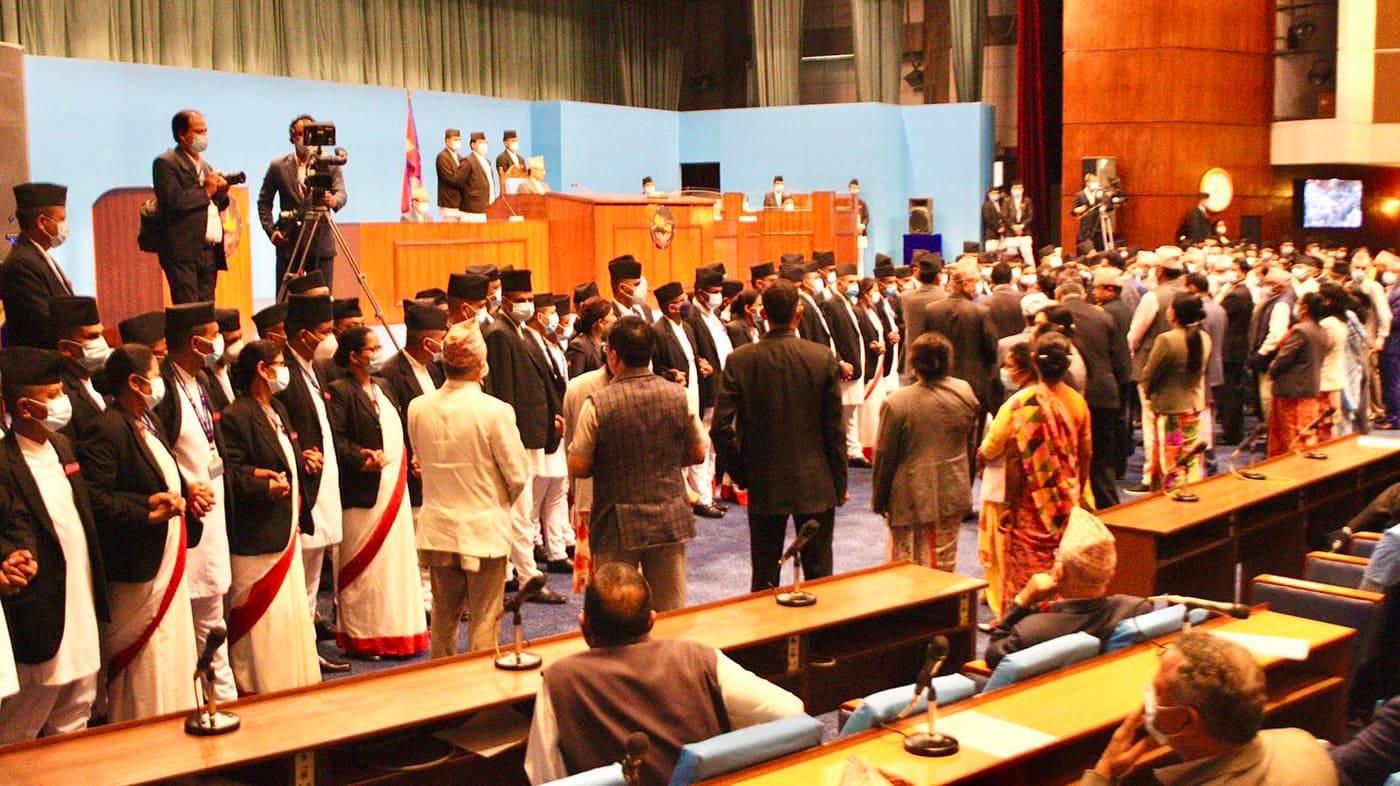 तेस्रो दिन पनि संसद बैठकमा एमाले सांसदको नाराबाजी